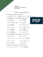 Listado de ejercicios de cálculo diferencial