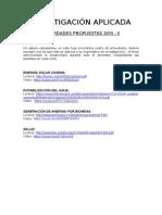 Propuesta de Actividades 2015-II