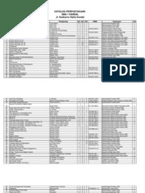 Katalog Perpustakaan Sma 1 Kendal Jl Soekarno