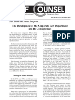 The Development of the Corporate Law Department and Its Consequences