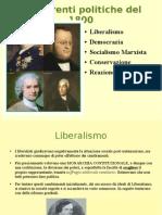 correnti politiche del 1800