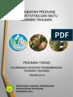 Pedoman Teknis Koordinasi Kegiatan Pengembangan Tanaman Tahunan