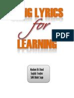 Song Lyrics for Learning
