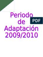 PERIODO DE ADAPTACIÓN