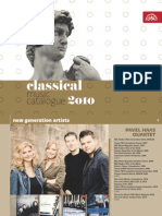 Classical Music Catalogue 2011 Supraphon Standard 150 Dpi