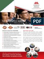 12 Month MBA Infosheet