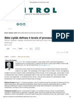 Béla Lipták Defines 5 Levels of Process Control