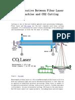 The Comparative Between Fiber Laser Cutting Machine and CO2 Cutting Machine