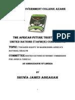 Abraham James Shuwa Project Original Copy