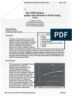 The TOFD Method - Between Radiography and Ultrasonic in Weld Testing