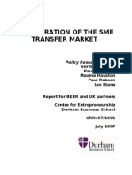 The Operation of the Sme Transfer Market-uk-2007