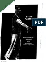 Contact Improvisation Steve Paxton