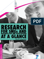 Research for SMEs and research for SME association at a glance