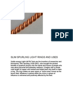 Slim Spurling Rings, Sizes and Uses   Electromagnetic Field