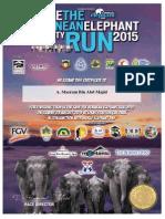 Save the Bornean Elephant Run 2015 certificate