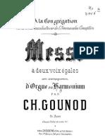Gounod, Misa Nº7 a Dos Voces y Armonio - Órgano