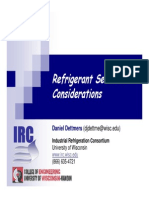 R&T 2007- Refrigerant Selection - Dettmers