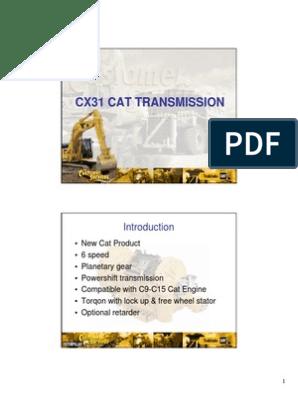 Cx31 Cat Transmission-student Handout   Transmission