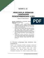 PP = MODUL 12  (PANCASILA DASAR ILMU)