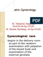 Pediatric Gynecology Baru