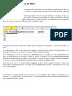 Resumen Equipo 2. Como Crear Una Tabla en Excel.