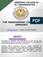 Top Management College in Amravati