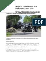 Uruguay Registra Casi Tres Veces Más Homicidios Que Nueva York