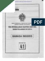 Tpm Smp Mkks Diy 2013-2014 Bahasa Inggris Tahap 2 Paket 41