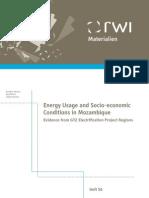 Energy Usage and Socio-economic Mozambique