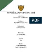 Filosofia Dominicana y Sus Filosofo