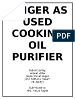 Ginger as Used Cooking Oil Purifier.....