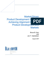 Market Driven Product Development Srategy