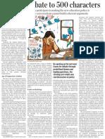 Dhankar Limiting Policy Debate the Hindu