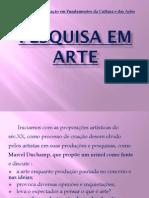 Pesquisa Em Artes - Artografia