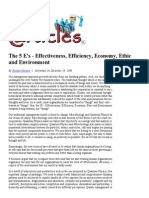 main ideas and cosdfdsncepts for essays for whose reality  the 5 e s effectiveness efficiency economy ethic and environment