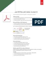 Adobe Acrobat Xi Create PDF Files Tutorial Ue