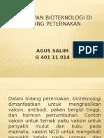 Penerapan Bioteknologi Di Bidang Peternakan