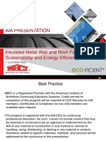 Insulated Metal Wall and Roof Panels for Sustainability and Energy Efficiency
