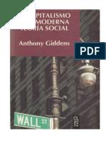 GIDDENS, El Capitalismo y La Moderna Teoría Social (Durkheim)