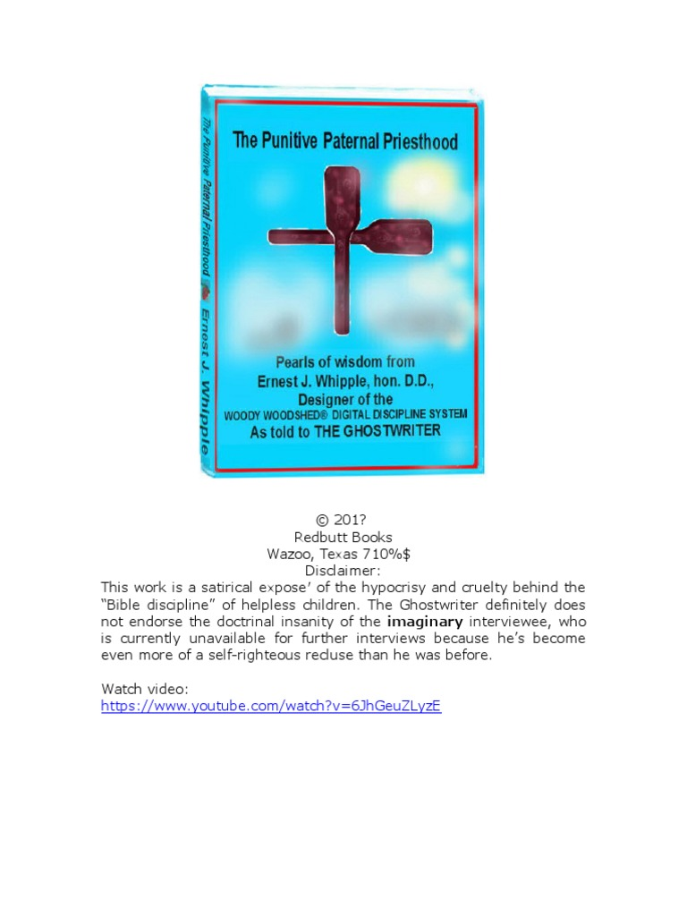 4286325f24cdbf The Punitive Paternal Priesthood