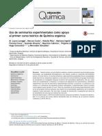 Uso de seminarios experimentales como apoyo al primer curso teórico de Química orgánica