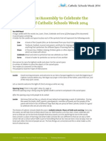 Opening-Prayer-Service - Catholic Schools Week 2014