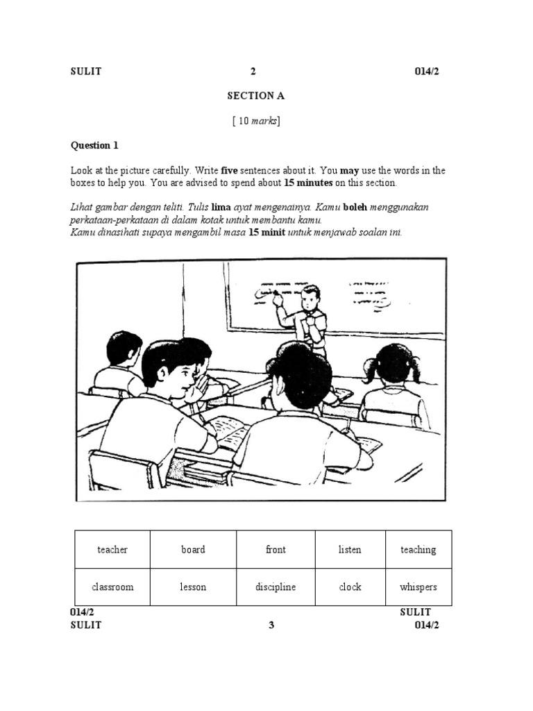 Soalan English Bi Bahasa Inggeris Tahun 5 Paper 2 Pedagogy Communication