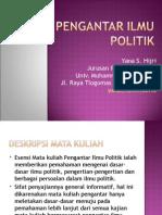 1-SAP-PENGANTAR ILMU POLITIK IKOM 2013.ppt