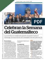 Celebran la Semana del Guatemalteco