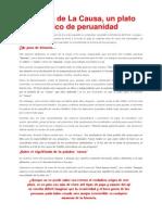 Historia Plato Tipico La Causa Peruana