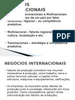 Aula 7 - Negocios Internacionais - Estratégia Transnacionais (1)