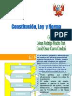 Constitucion ley y norma