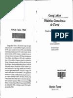 LUKÁCS, György. História e Consciência de Classe