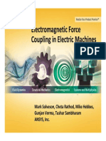 ANSYS Simulation of Electromagnetic Force Coupling Electric Machines